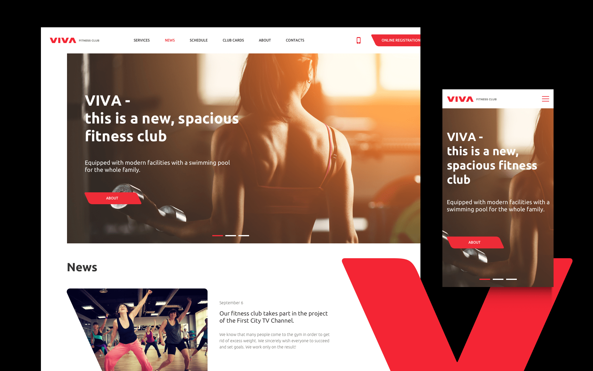 Web-design for fitness club