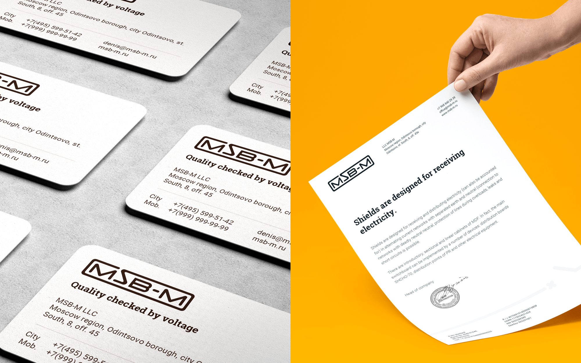 Corporate identity design of industrial company
