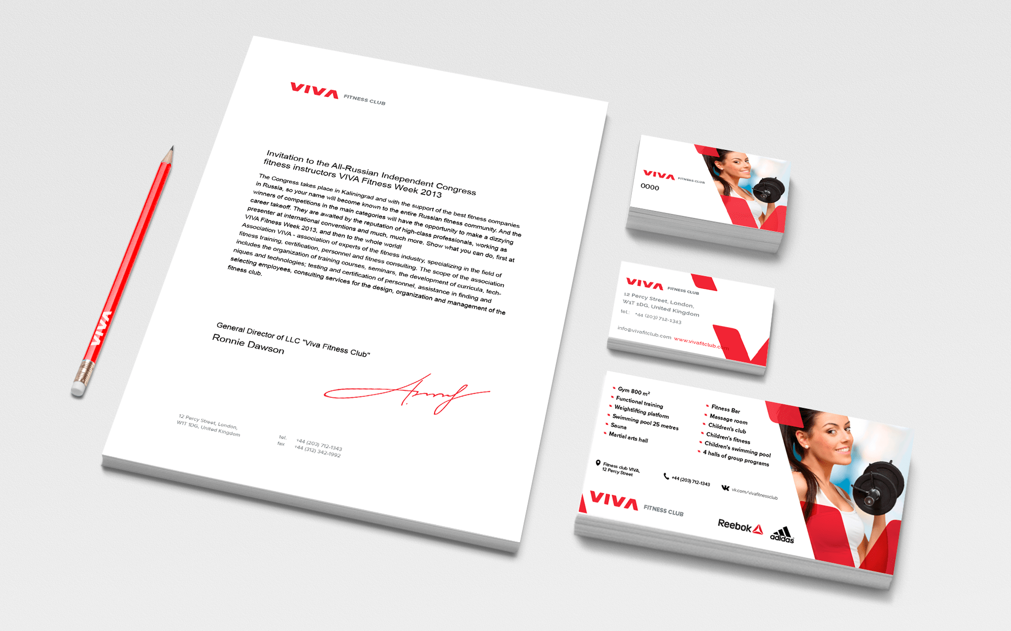 Fitness club corporate identity