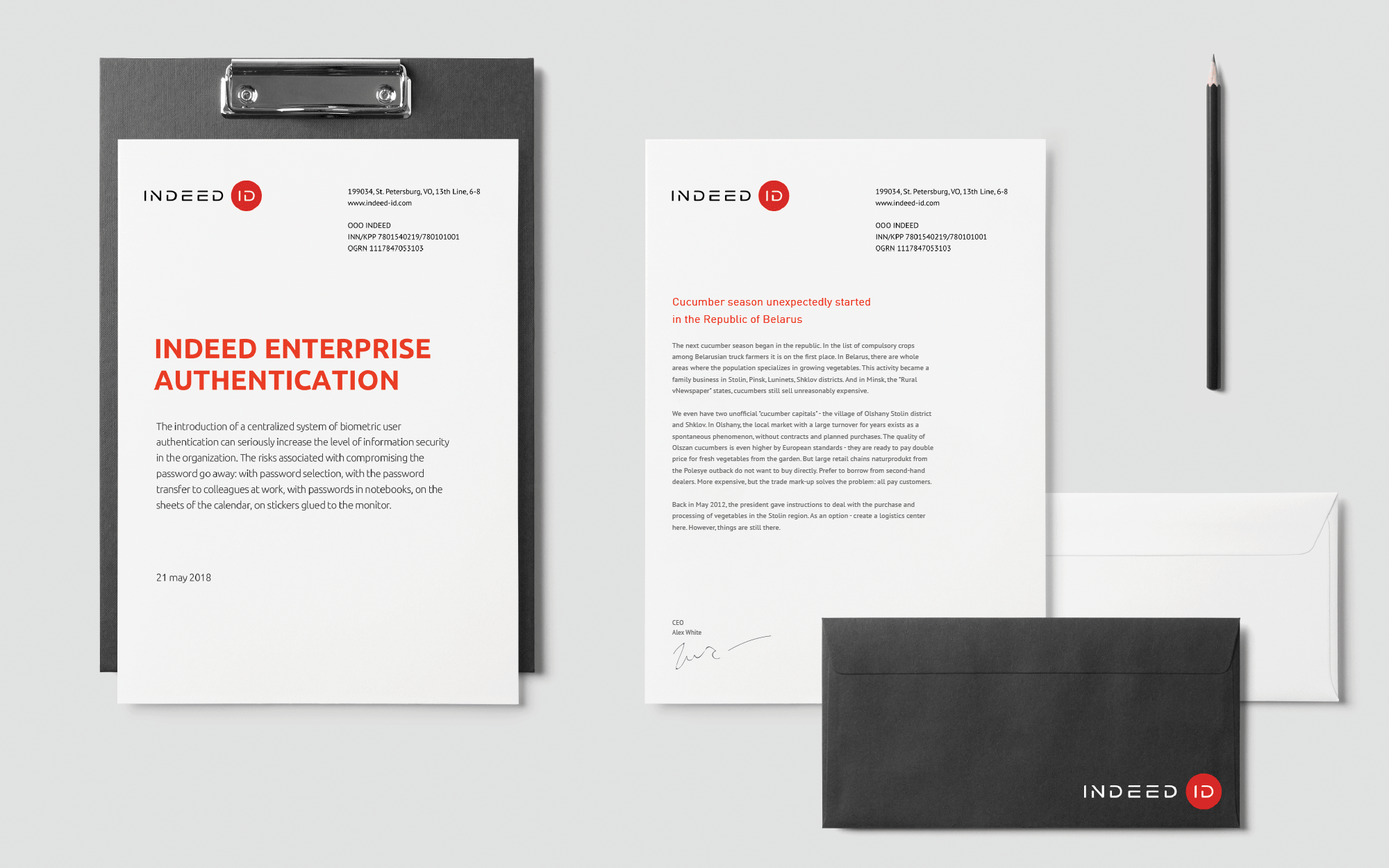 Software company's corporate identity