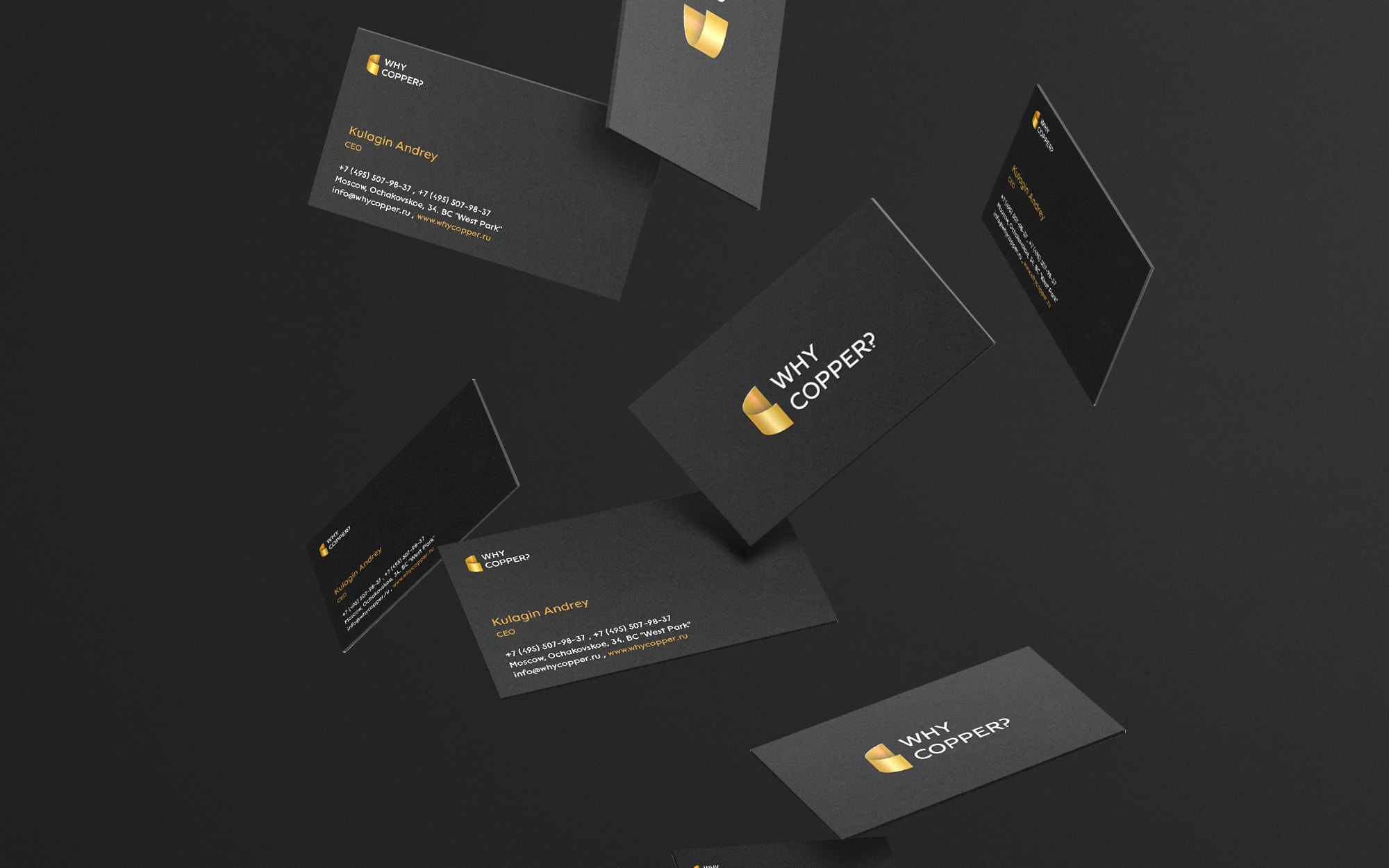 Production company branding and business cards