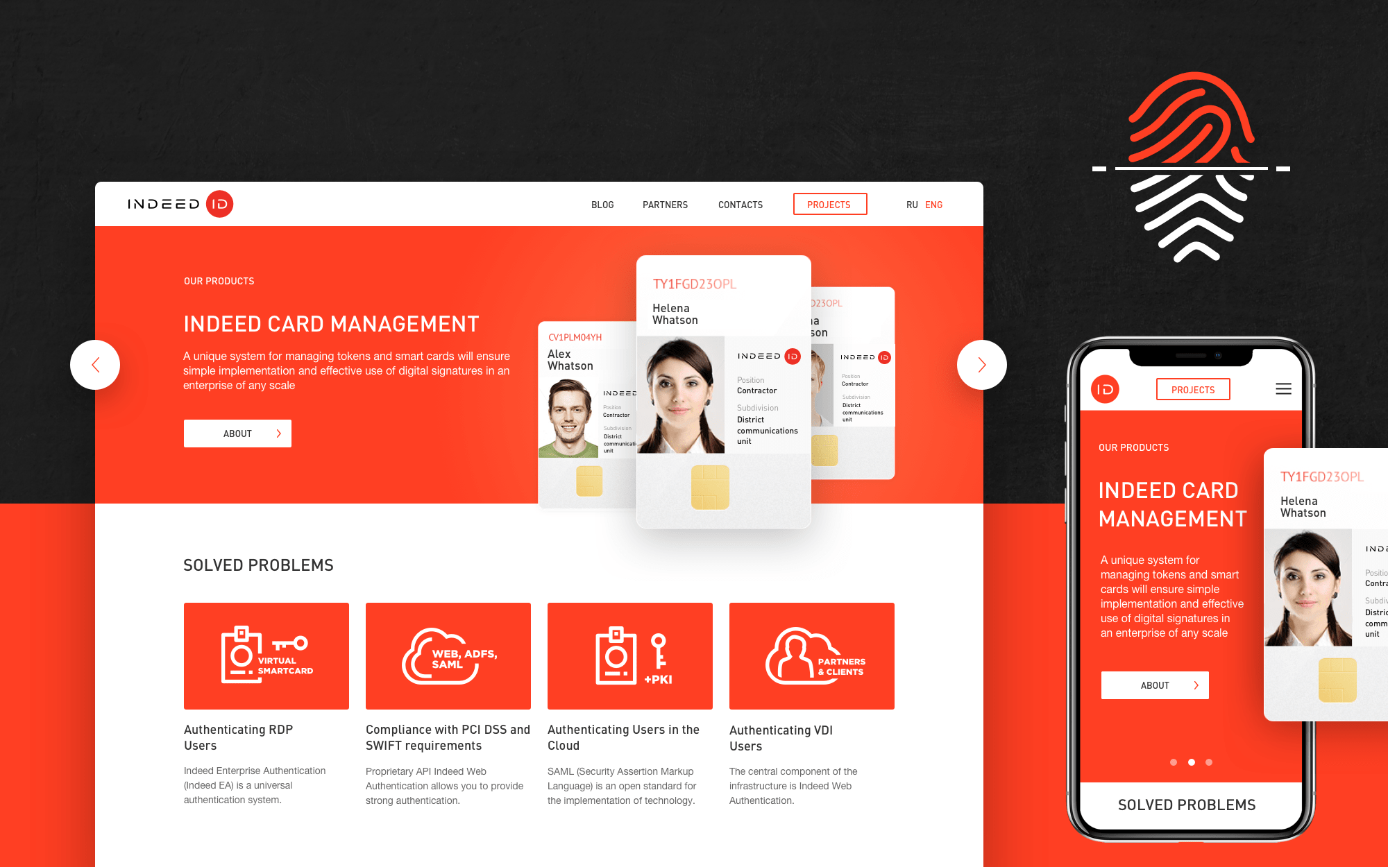 Design concept for software company
