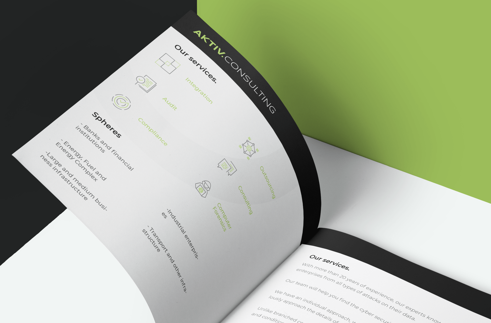 Corporate booklet design for IT company