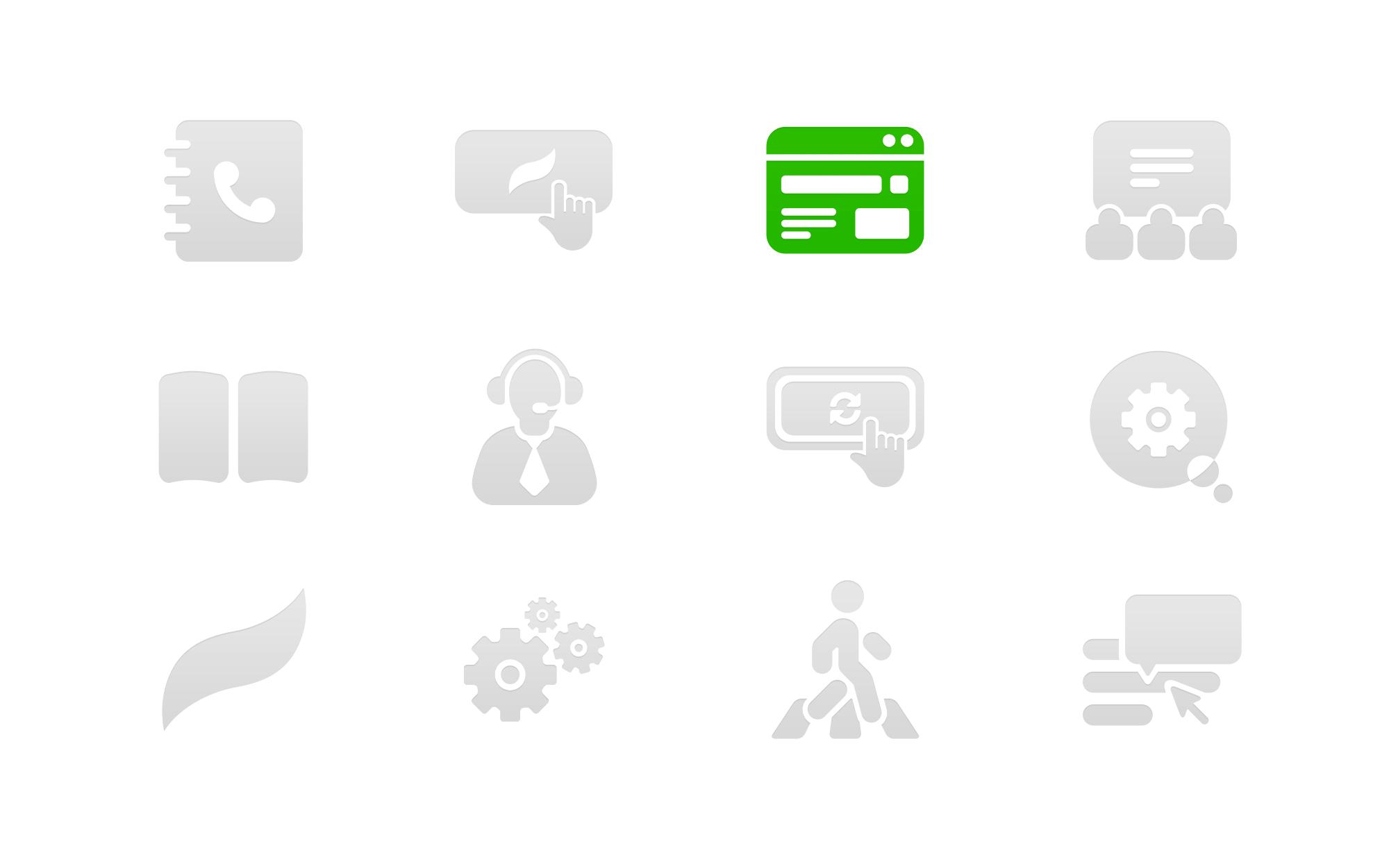 Icons design for advertising platform