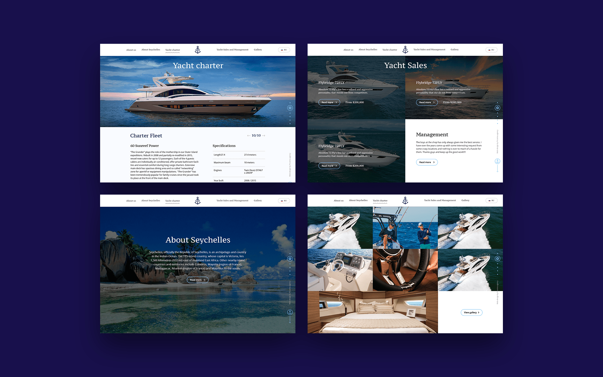 Yachting web-site design