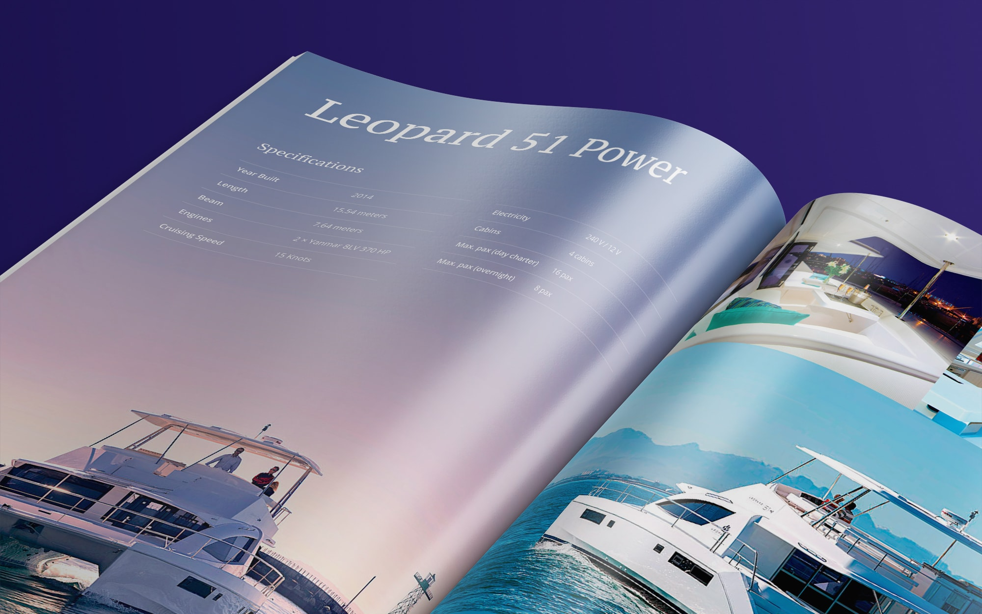 Yachting rent brochure