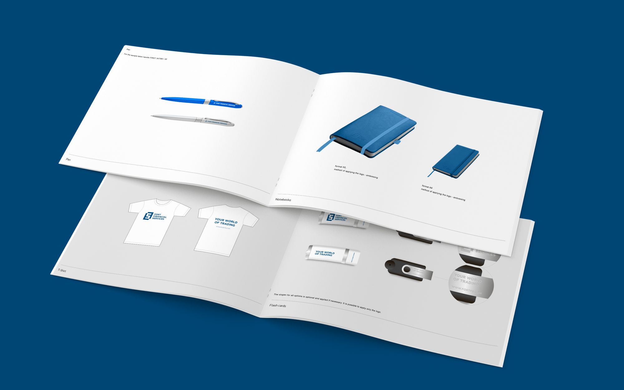 Corporate identity for forex trader company