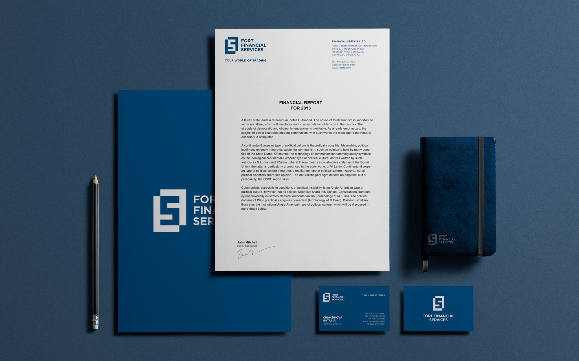 Forex broker corporate identity design