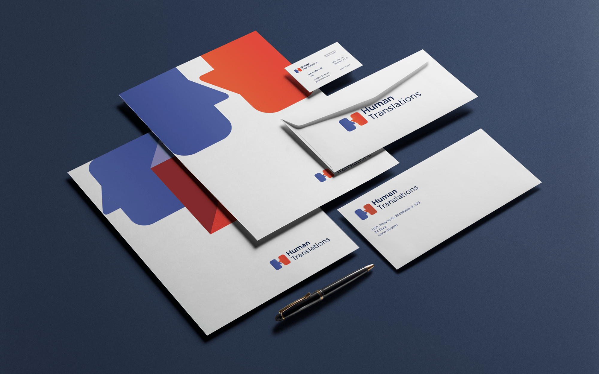 Cprporate identity for translations agency