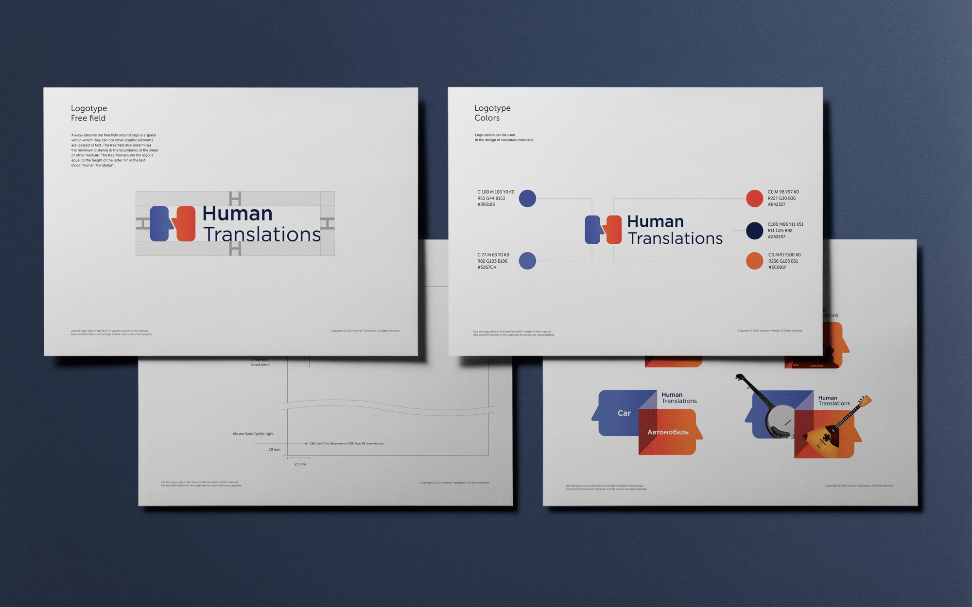 Corporate identity for human translations