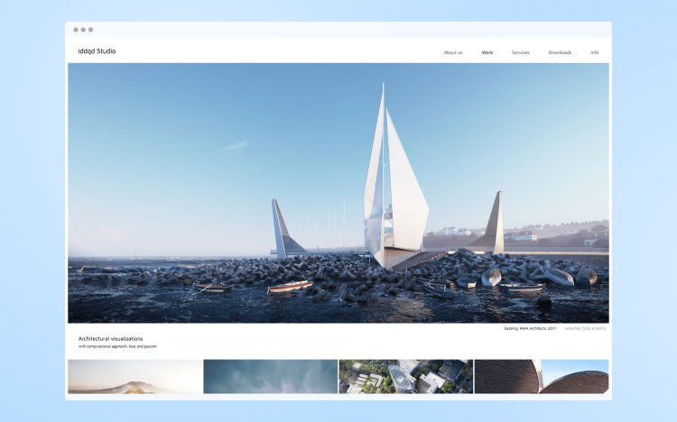 Web-design for architectural vizualization studio