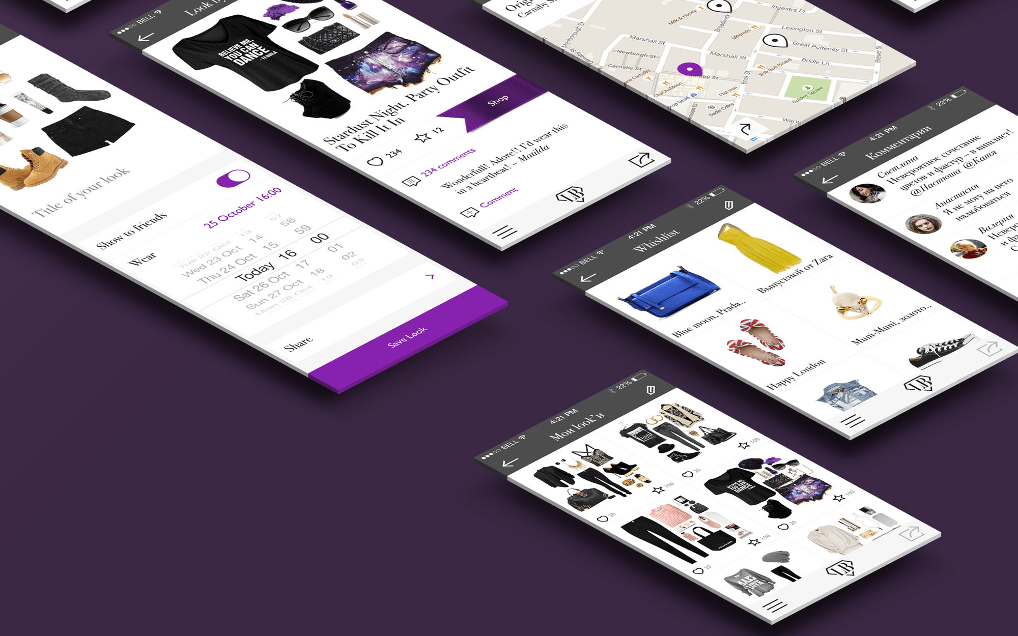 Ios fashion app design