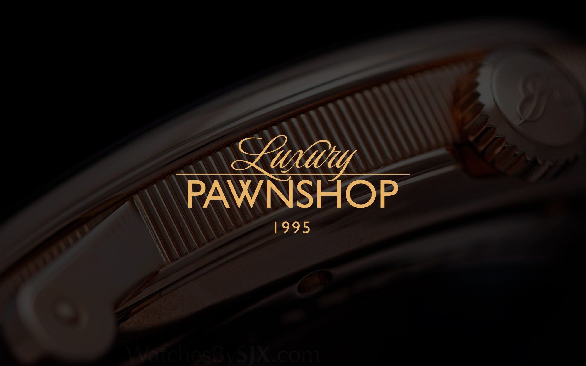 Luxury pawnshop typography logotype