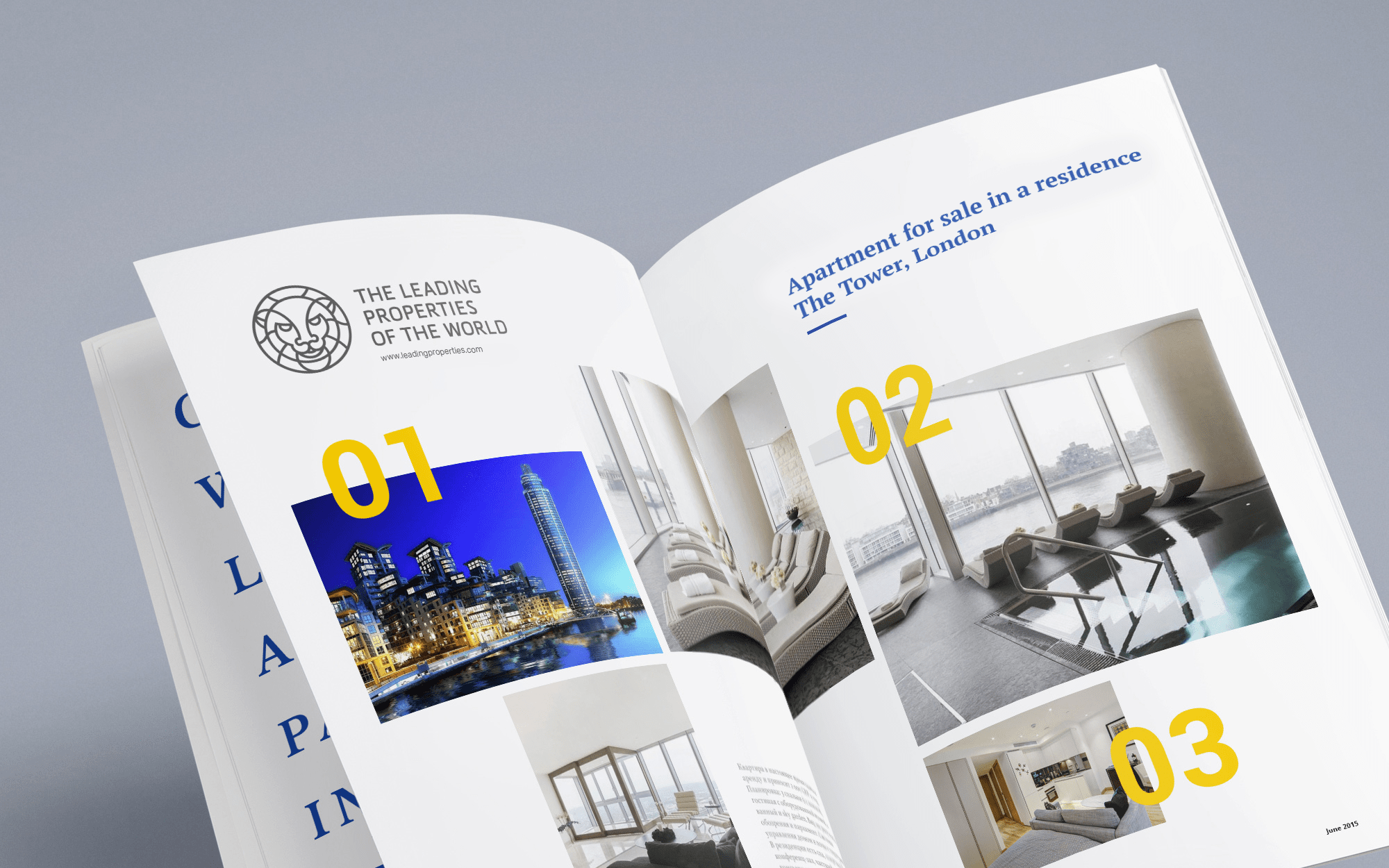 Luxury real estate booklet design sample.