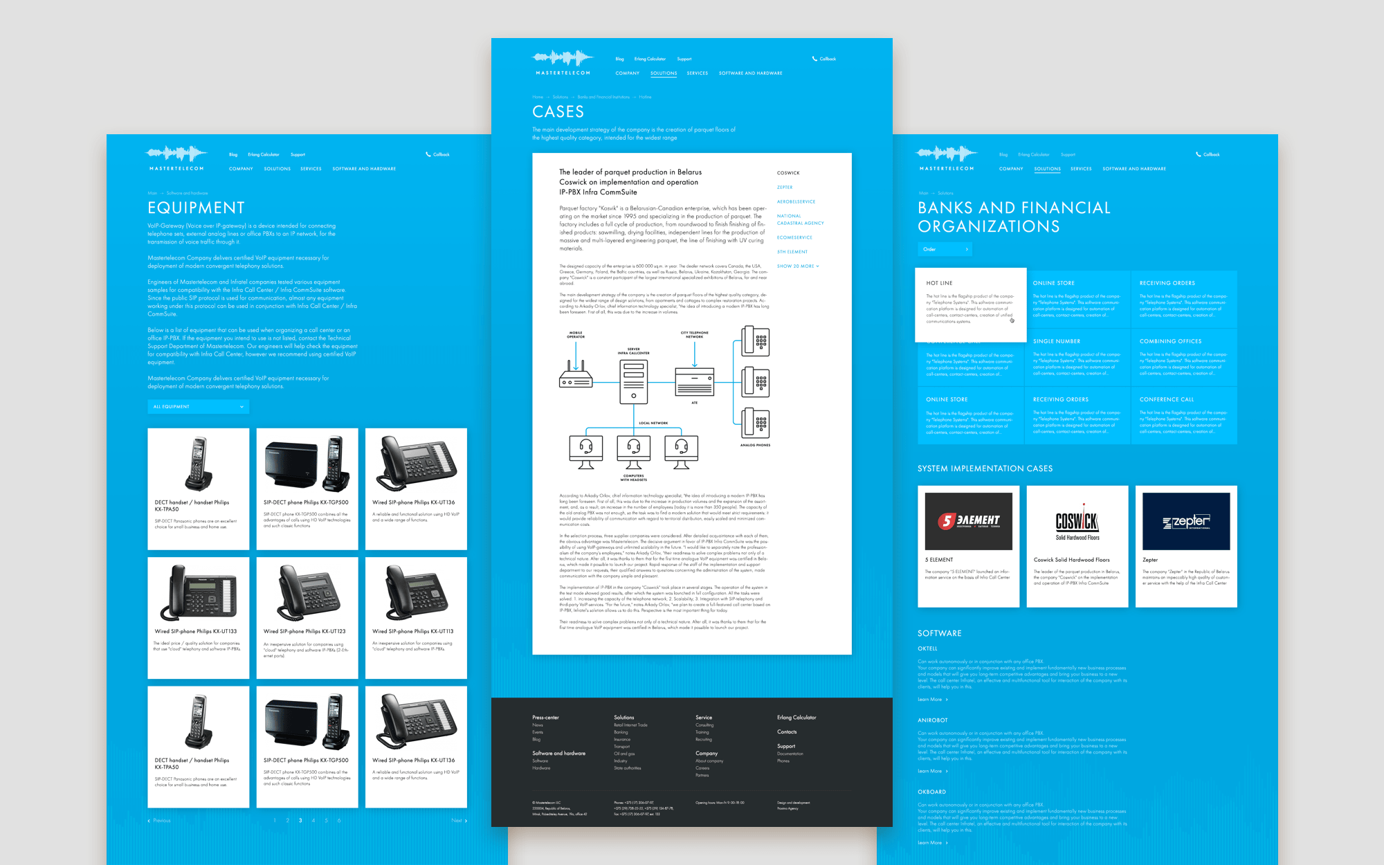 Web-site design for IT company