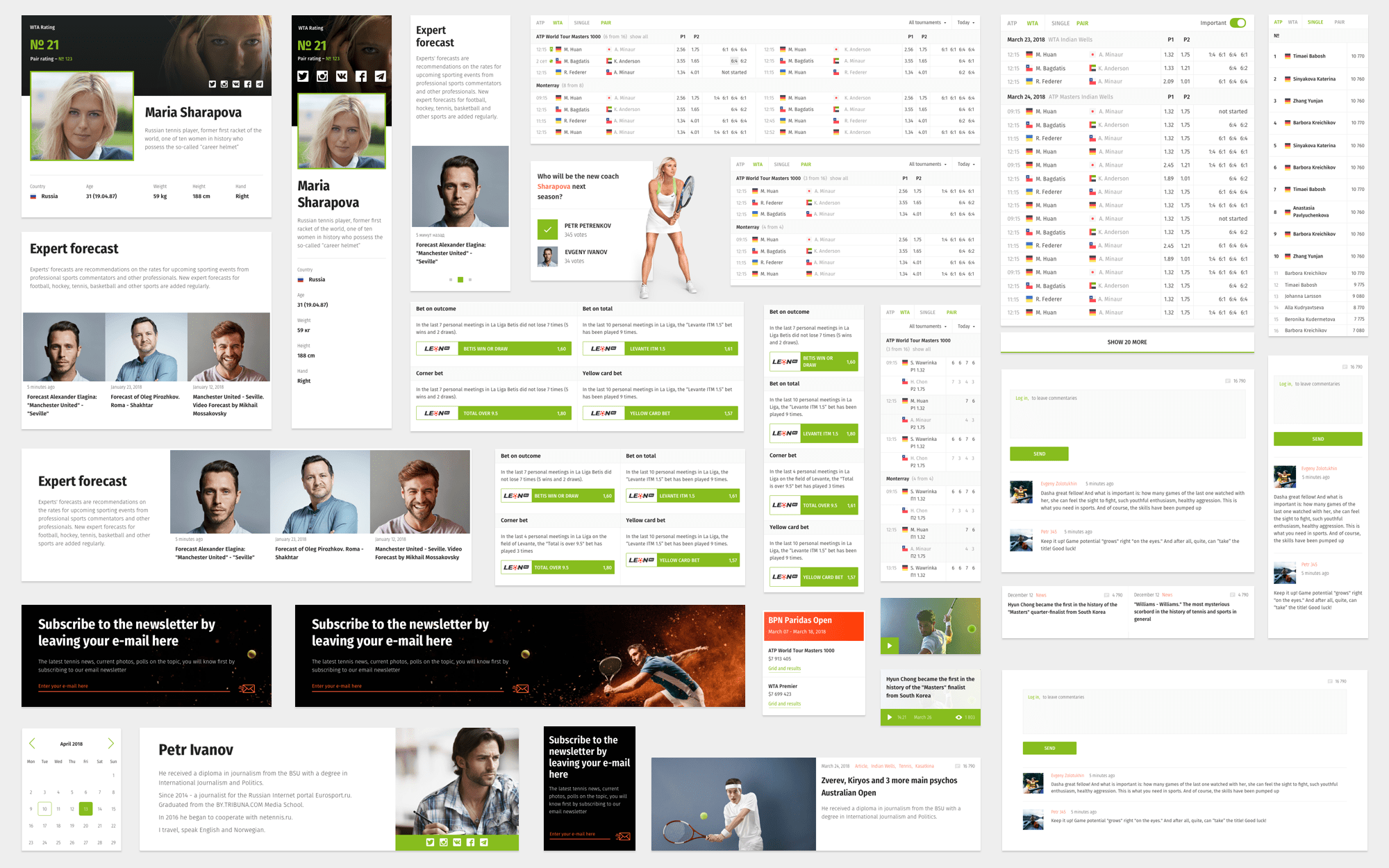 Atomic design system for news website