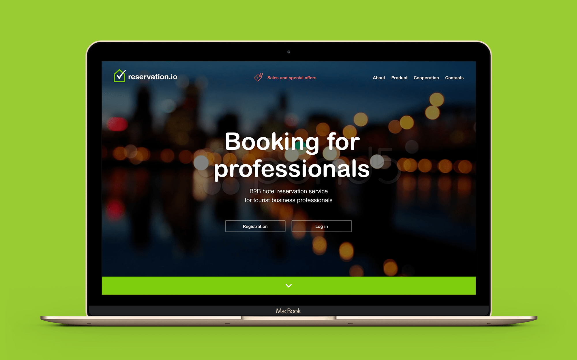 Layout design for booking web-site
