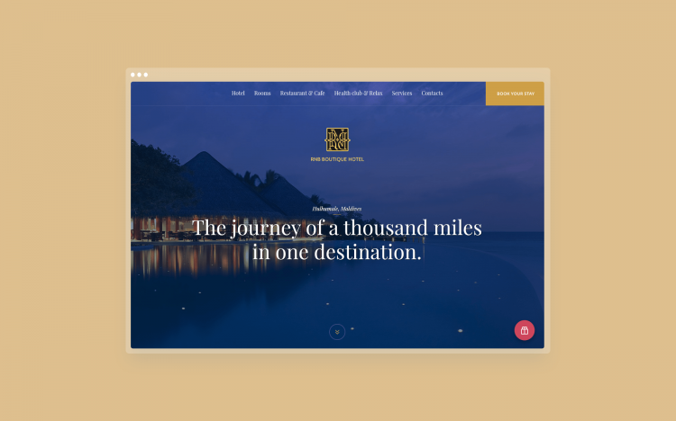 Maldives hotel web-site design and development