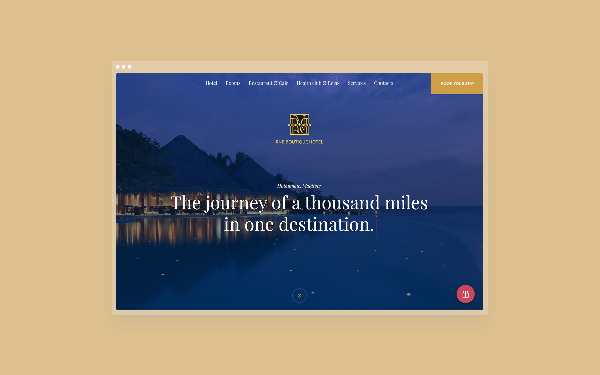 Hotel web-site design