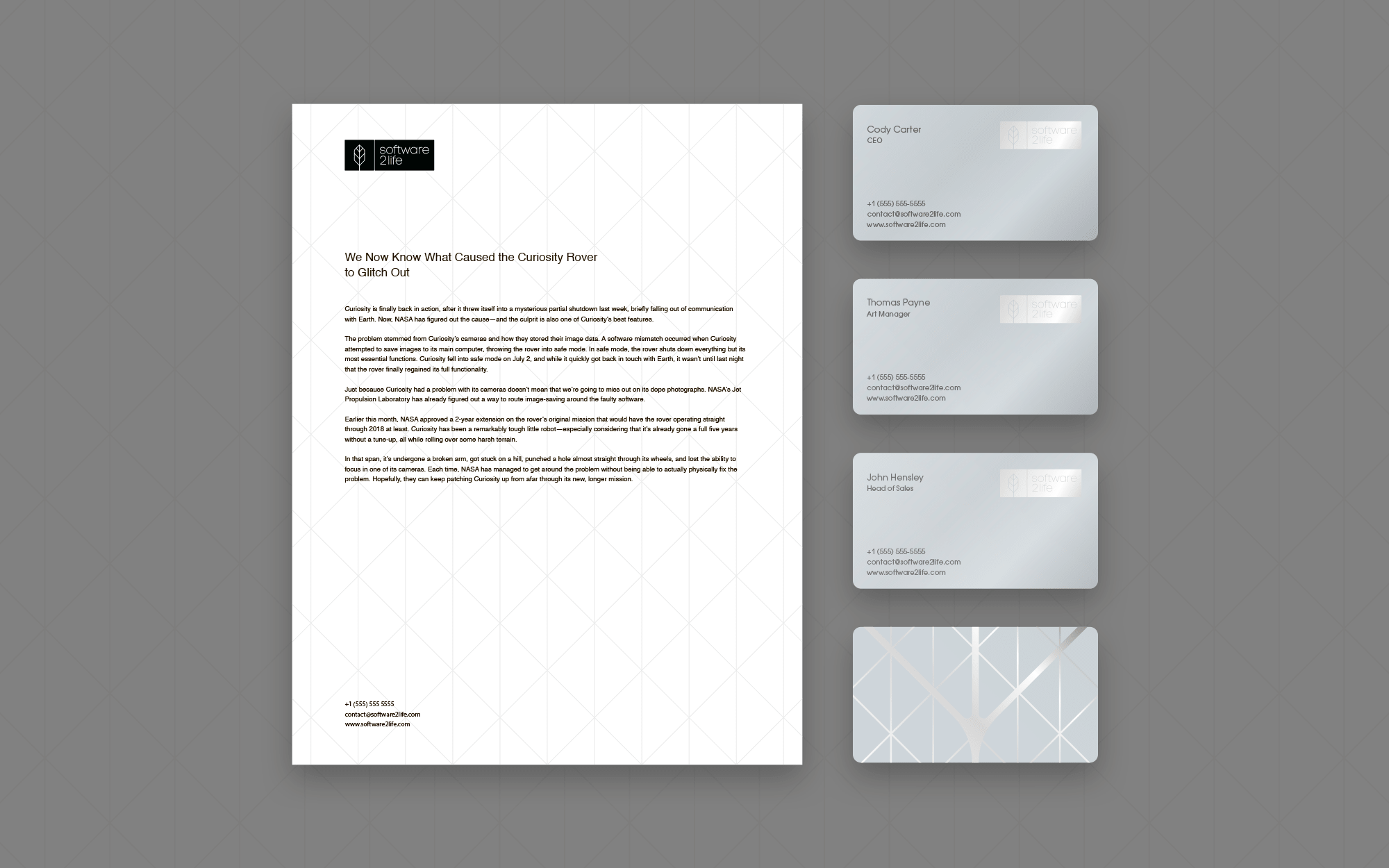 corporate identity for IT company