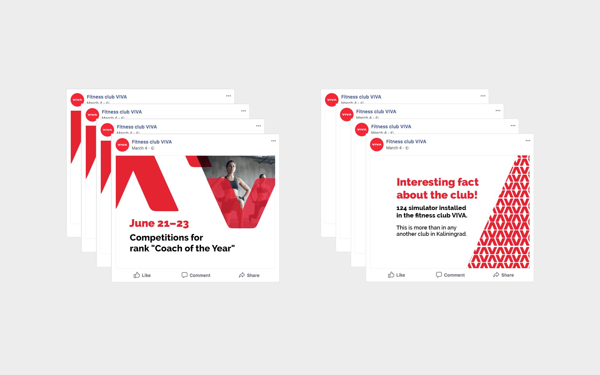 Design mock-ups for instagram and facebook