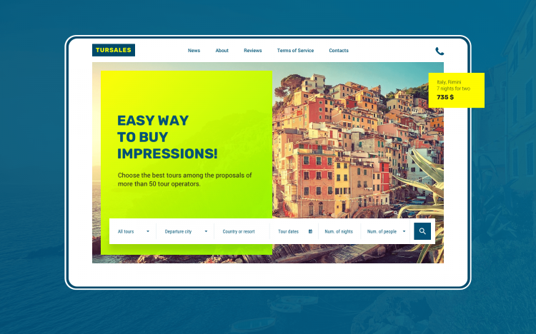 Travel operator web-site design