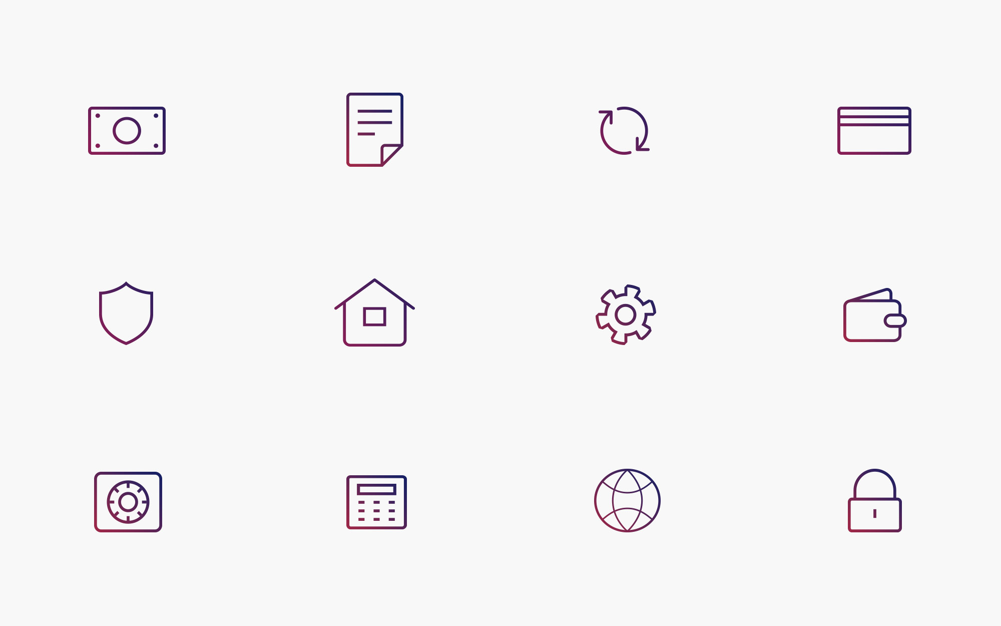 banking web-site icons
