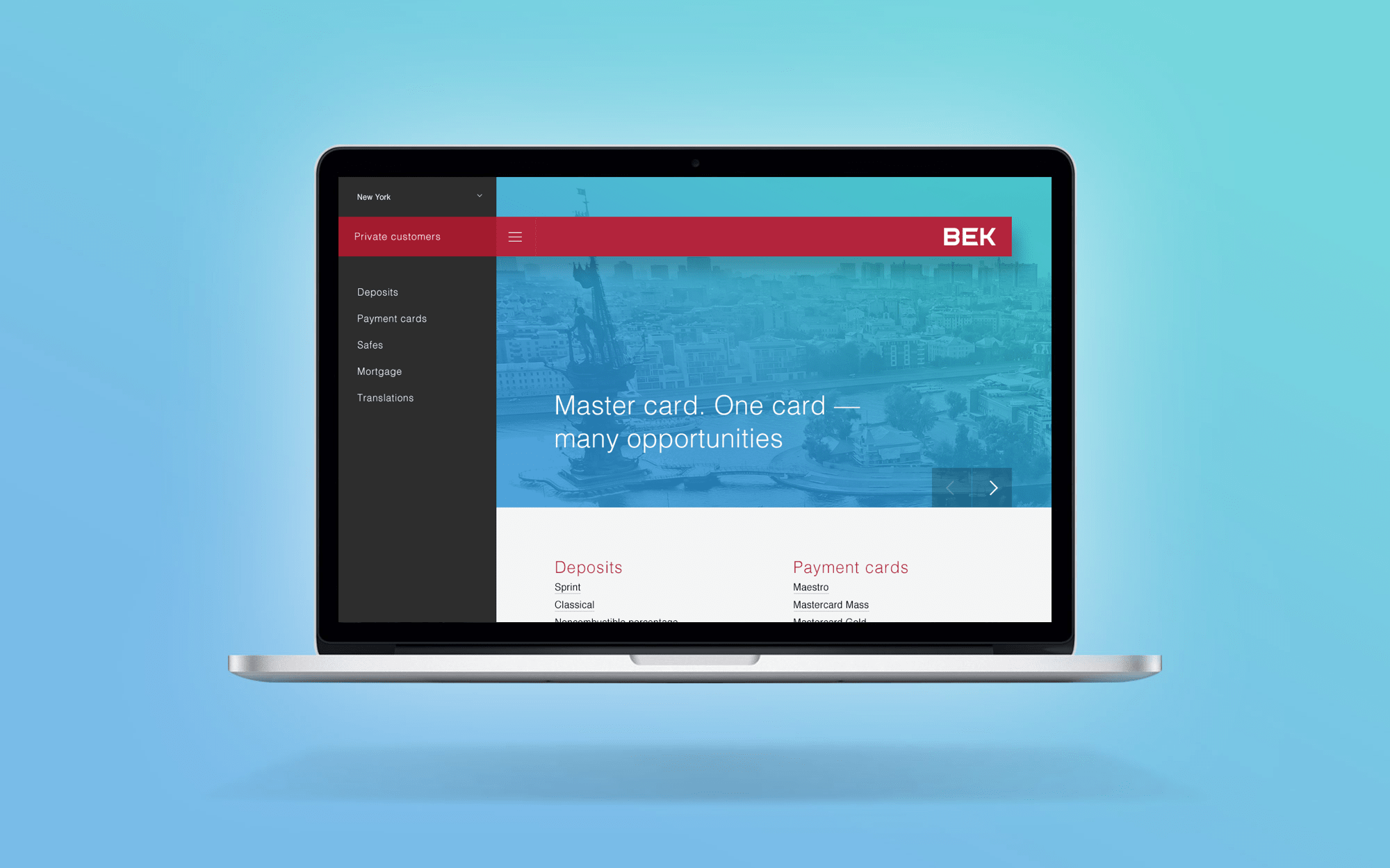 Bank web-site design